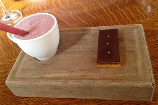 Bluementhal's chocolate wine slush and millionaire shortbread