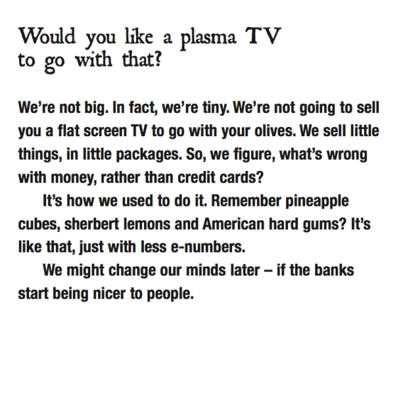 Would you like a plasma TV to go with your olives?